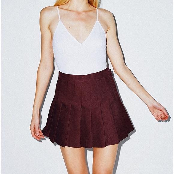 1da2ee83f2cb American Apparel Skirts | Burgundy Truffle Tennis Skirt | Poshmark